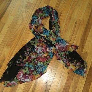 Zara  sheer Flower scarf